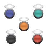 Σύνολο σκιάς ματιών στα διαφορετικά χρώματα Στοκ εικόνες με δικαίωμα ελεύθερης χρήσης