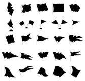 Σύνολο σκιαγραφιών σημαιών Στοκ Φωτογραφίες