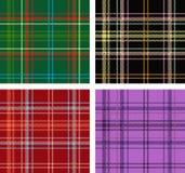 Σύνολο σκωτσέζικων συστάσεων καρό Στοκ φωτογραφίες με δικαίωμα ελεύθερης χρήσης