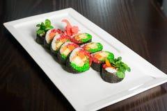 Σύνολο σουσιών, ιαπωνικά τρόφιμα Στοκ φωτογραφία με δικαίωμα ελεύθερης χρήσης