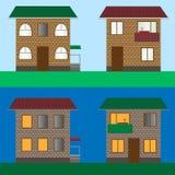 Σύνολο σπιτιών Απεικόνιση αποθεμάτων