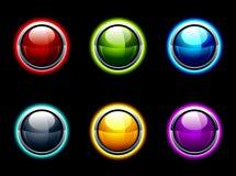 Σύνολο στιλπνών κουμπιών διανυσματική απεικόνιση