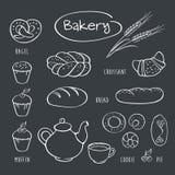Σύνολο στοιχείων για το αρτοποιείο Στοκ εικόνα με δικαίωμα ελεύθερης χρήσης