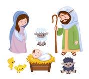Σύνολο στοιχείων σκηνής Χριστουγέννων Στοκ εικόνα με δικαίωμα ελεύθερης χρήσης
