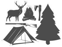Σύνολο στοιχείων στρατοπέδευσης, άγρια φύση, υπαίθρια Στοκ Φωτογραφίες