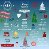 Σύνολο στοιχείων Χριστουγέννων Στοκ φωτογραφία με δικαίωμα ελεύθερης χρήσης