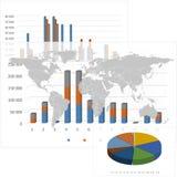 Σύνολο στοιχείων Infographic. Υπόβαθρο παγκόσμιων χαρτών Στοκ εικόνες με δικαίωμα ελεύθερης χρήσης