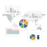 Σύνολο στοιχείων Infographic. Υπόβαθρο παγκόσμιων χαρτών Στοκ φωτογραφία με δικαίωμα ελεύθερης χρήσης