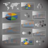 Σύνολο στοιχείων Infographic. Υπόβαθρο παγκόσμιων χαρτών Στοκ Εικόνα