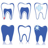 Σύνολο συμβόλων δοντιών. απεικόνιση αποθεμάτων