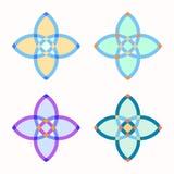 Σύνολο 4 συμμετρικών γεωμετρικών μορφών Στοκ φωτογραφίες με δικαίωμα ελεύθερης χρήσης