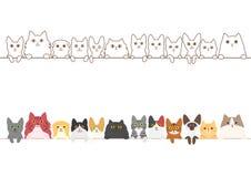 Σύνολο συνόρων γατών διανυσματική απεικόνιση