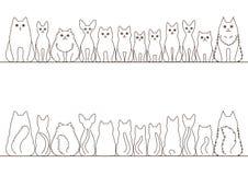 Σύνολο συνόρων γατών ελεύθερη απεικόνιση δικαιώματος
