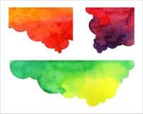 Σύνολο συρμένων χέρι λεκτικών φυσαλίδων watercolor Στοκ Εικόνες