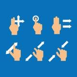 Σύνολο συσκευής αφής χειρονομίας δάχτυλων Στοκ φωτογραφία με δικαίωμα ελεύθερης χρήσης
