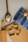 Σύνολο συστατικών που χρησιμοποιούνται για το ψήσιμο Στοκ Φωτογραφία