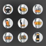 Σύνολο συστημάτων θέρμανσης αυτοκινήτων Στοκ Εικόνες