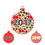 Σύνολο Σφαίρες Χριστουγέννων χρωμάτων Στοκ φωτογραφία με δικαίωμα ελεύθερης χρήσης