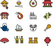 Σύνολο σχετικών με την Κίνα εικονιδίων Στοκ Εικόνες