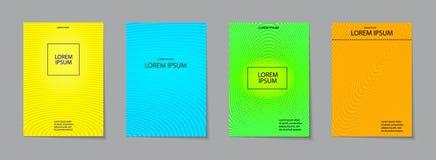 Σύνολο σχεδίου καλύψεων Αφηρημένο, ελάχιστο, γεωμετρικό σχέδιο Στοκ Φωτογραφίες