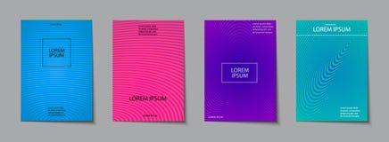 Σύνολο σχεδίου καλύψεων Αφηρημένο, ελάχιστο, γεωμετρικό σχέδιο Στοκ φωτογραφία με δικαίωμα ελεύθερης χρήσης