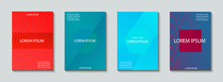 Σύνολο σχεδίου καλύψεων Αφηρημένο, ελάχιστο, γεωμετρικό σχέδιο Στοκ Εικόνα