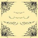 Σύνολο 02 σχεδίου ύφους δερματοστιξιών oldskool πλαισίων τριαντάφυλλων Στοκ εικόνα με δικαίωμα ελεύθερης χρήσης