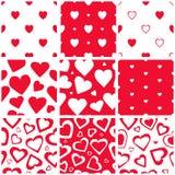 Σύνολο σχεδίων καρδιών Στοκ εικόνα με δικαίωμα ελεύθερης χρήσης