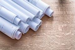 Σύνολο σχεδίων κατασκευής για τον ξύλινο δρύινο πίνακα Στοκ Φωτογραφίες