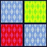 Σύνολο σχεδίων με τα rhombuses Στοκ Φωτογραφίες