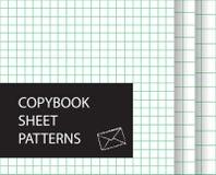 Σύνολο σχεδίων φύλλων Copybook Τακτοποιημένα υπόβαθρα εγγράφου Στοκ φωτογραφίες με δικαίωμα ελεύθερης χρήσης
