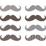 Σύνολο σχεδίων Mustaches Στοκ Φωτογραφίες
