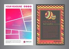 Σύνολο σχεδιαγράμματος επιχειρησιακών ιπτάμενων με τις κυρτές γραμμές και τα αφηρημένα σύγχρονα υπόβαθρα Στοκ Εικόνες