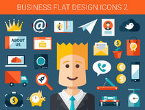 Σύνολο σύγχρονου επίπεδου επιχειρησιακού infographics σχεδίου Στοκ εικόνα με δικαίωμα ελεύθερης χρήσης