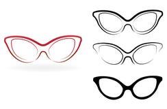 Σύνολο σύγχρονων γυαλιών Στοκ Εικόνες