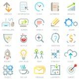 Σύνολο 25 σύγχρονων επιχειρησιακών εικονιδίων διάνυσμα απεικόνιση αποθεμάτων
