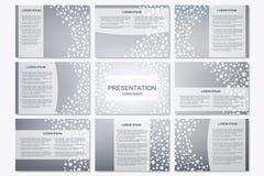 Σύνολο σύγχρονων προτύπων επιχειρησιακής παρουσίασης A4 στο μέγεθος Στοκ Φωτογραφία