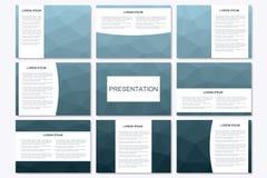 Σύνολο σύγχρονων προτύπων επιχειρησιακής παρουσίασης A4 στο μέγεθος Στοκ Φωτογραφίες