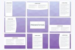 Σύνολο σύγχρονων προτύπων επιχειρησιακής παρουσίασης A4 στο μέγεθος Στοκ Εικόνες