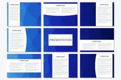 Σύνολο σύγχρονων προτύπων επιχειρησιακής παρουσίασης A4 στο μέγεθος Στοκ φωτογραφία με δικαίωμα ελεύθερης χρήσης