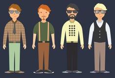 Σύνολο σύγχρονων hipsters Στοκ Εικόνες