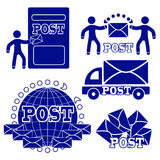 σύνολο ταχυδρομείου εικονιδίων Η έννοια της παράδοσης των επιστολών και των μετα ιδιοτήτων Στοκ εικόνα με δικαίωμα ελεύθερης χρήσης