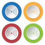 Σύνολο τεσσάρων εικονιδίων - ήχος ή δόνηση απεικόνιση αποθεμάτων