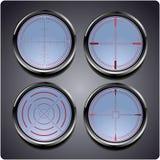 Σύνολο τεσσάρων διαφορετικών crosshairs απεικόνιση αποθεμάτων
