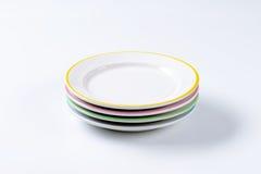 Σύνολο τεσσάρων πιάτων γευμάτων Στοκ εικόνα με δικαίωμα ελεύθερης χρήσης