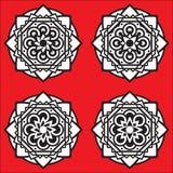 Σύνολο τεσσάρων mandalas Στοκ εικόνα με δικαίωμα ελεύθερης χρήσης