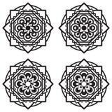 Σύνολο τεσσάρων mandalas ελεύθερη απεικόνιση δικαιώματος