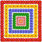 Σύνολο τετραγωνικών floral στοιχείων Στοκ εικόνες με δικαίωμα ελεύθερης χρήσης