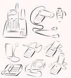 Σύνολο τηλεφωνικού σχεδίου Στοκ φωτογραφία με δικαίωμα ελεύθερης χρήσης