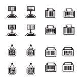 Σύνολο τιμών και σύνολο σχεδίου γραμμωτών κωδίκων Στοκ Εικόνα
